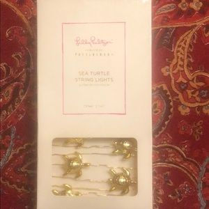 Lilly Pulitzer new in box sea turtle string lights